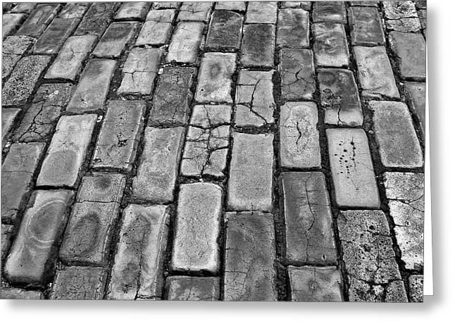 Adoquines Greeting Cards - Adoquines - Old San Juan pavers Greeting Card by Guillermo Rodriguez
