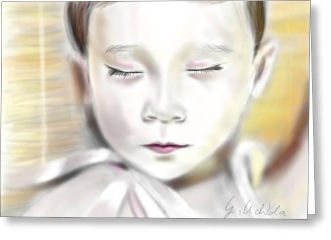 Yoshiyuki Uchida Greeting Cards - Adora 4th Portrait Greeting Card by Yoshiyuki Uchida