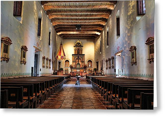 Historic Site Greeting Cards - Adoration - San Diego de Alcala Greeting Card by Stephen Stookey