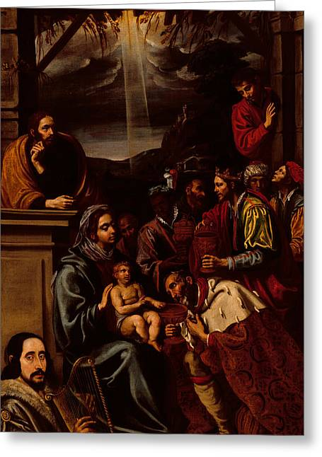 Adoration Of The Magi Greeting Card by Unknown