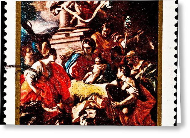 Adoration of the Shepherds  Greeting Card by Jim Pruitt