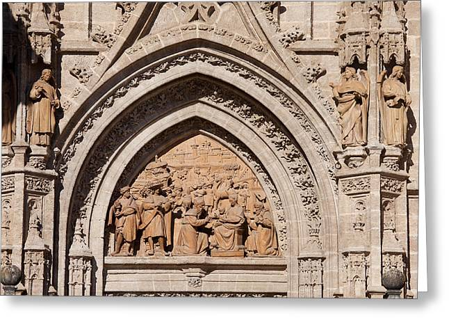 Sculpture Relief Greeting Cards - Adoration of the Three Wise Men Relief Greeting Card by Artur Bogacki