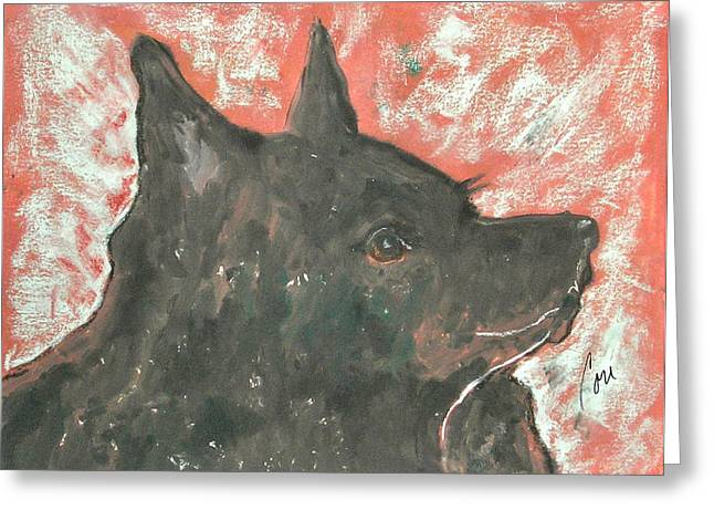 Hand Pulled Print Greeting Cards - Adoring Eyes Greeting Card by Cori Solomon