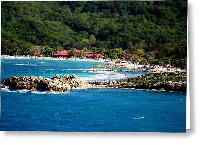 Raining Greeting Cards - Adrenaline Beach Labadee Haiti Greeting Card by Shelley Neff