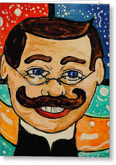 Asbury Park Paintings Greeting Cards - Adrian Tillies Father Greeting Card by Patricia Arroyo