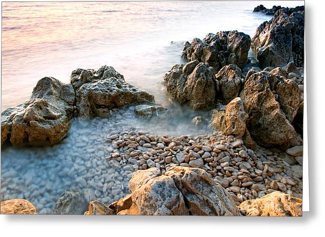 Mediterranean Landscape Greeting Cards - Adriatic rocks Greeting Card by Sinisa Botas