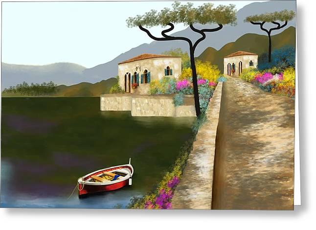 Adriatic Splendor Greeting Card by Larry Cirigliano