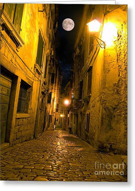 Old Roadway Greeting Cards - Adriatic street Greeting Card by Sinisa Botas