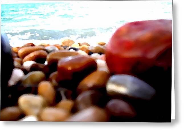 Garden Scene Digital Greeting Cards - Adriatico Preistorico 2 Greeting Card by Marcello Cicchini
