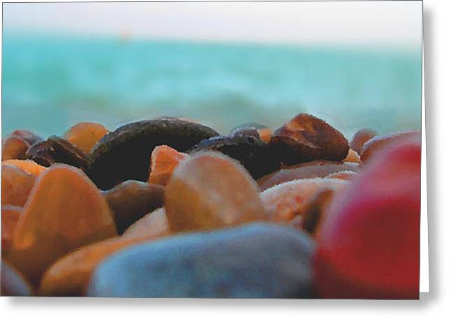 Agate Beach Greeting Cards - Adriatico Preistorico Greeting Card by Marcello Cicchini