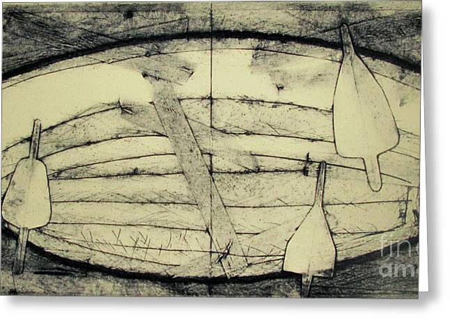 Adrift Archived Work 1of 10 Greeting Card by Charlie Spear