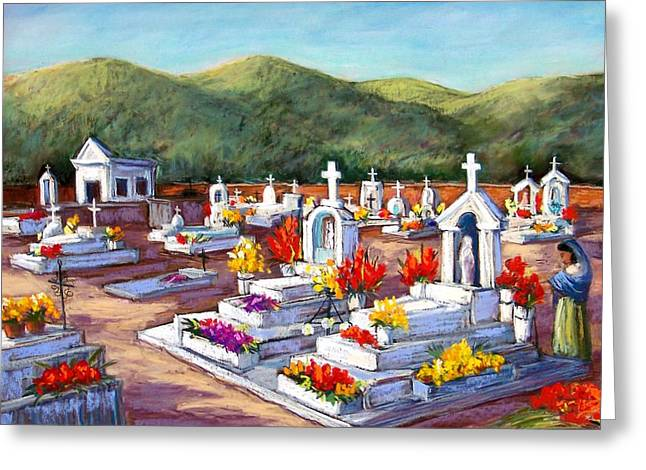 Of Color Pastels Greeting Cards - Aduana Cemetery Greeting Card by Candy Mayer