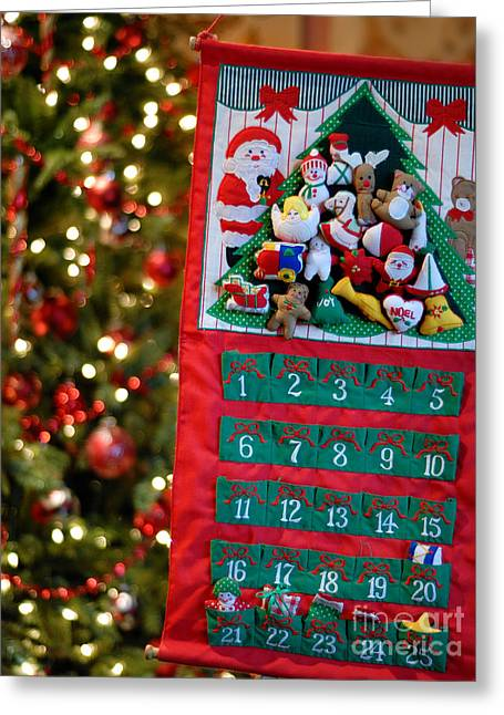 Advent Greeting Cards - Advent Calendar Greeting Card by Amy Cicconi