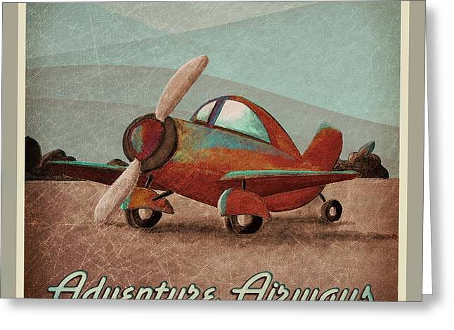 Toys Greeting Cards - Adventure Air Greeting Card by Cindy Thornton