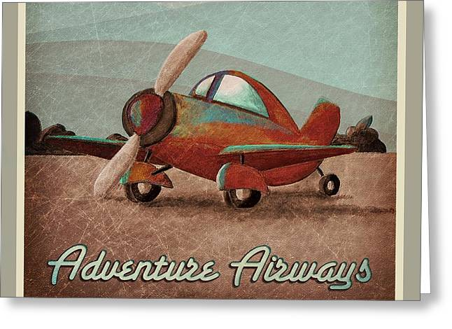 Child Toy Greeting Cards - Adventure Air Greeting Card by Cindy Thornton