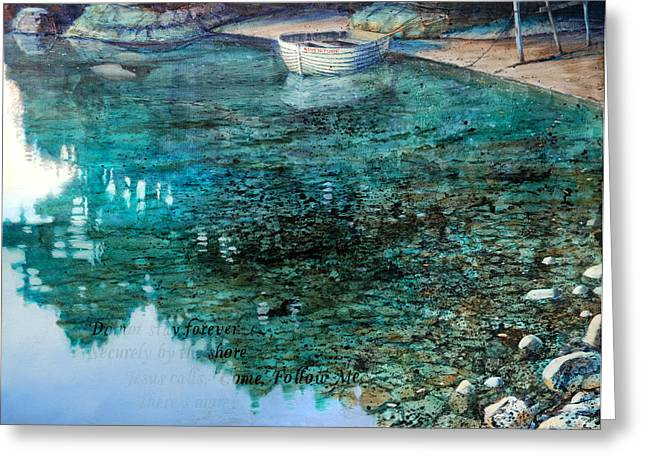 Religious Art Paintings Greeting Cards - Adventure  Karaka Bay Great Barrier Island Greeting Card by Graham Braddock