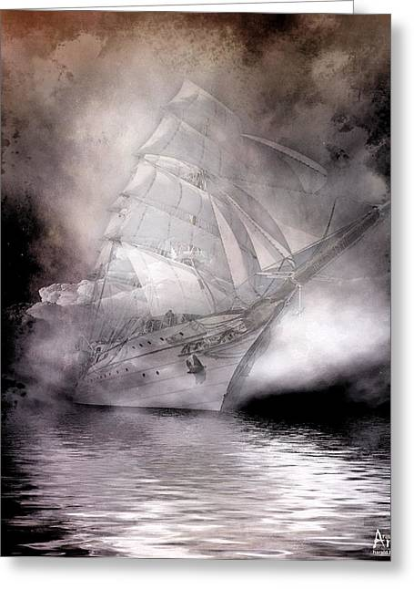 Fischer Boat Greeting Cards - Adventure Of Sailing Greeting Card by Harald Fischer