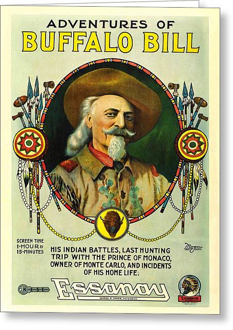 Movie Poster Gallery Greeting Cards - Adventures of Buffalo Bill Greeting Card by Movie Poster Prints