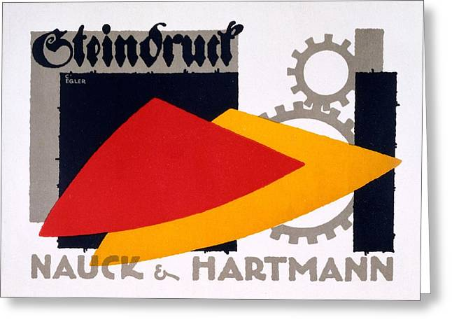 Cog Greeting Cards - Advertisement For Nauck And Hartmann Greeting Card by Carlo Egler