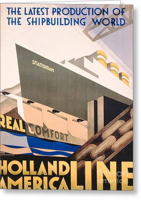 Art Deco Greeting Cards - Advertisement for the Holland America Line Greeting Card by Hoff