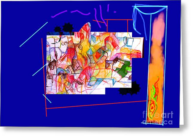 Inner Self Greeting Cards - Advertisement of self 1 one Greeting Card by David Baruch Wolk