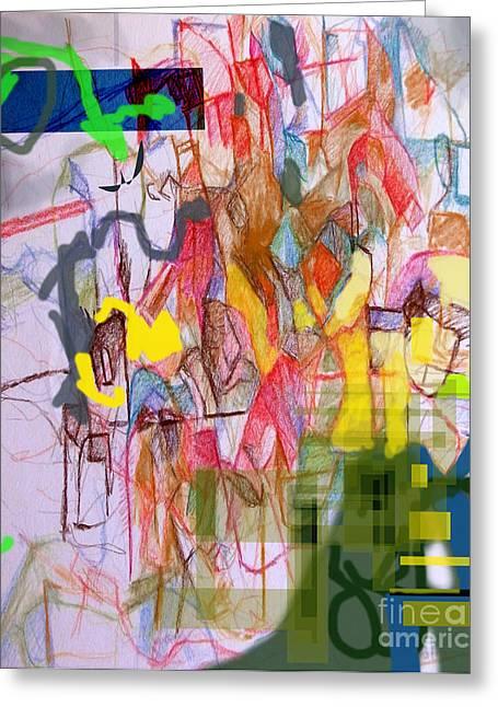 Inner Self Greeting Cards - Advertisement of self 1b Greeting Card by David Baruch Wolk