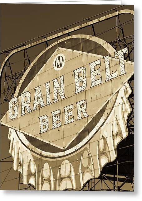 Advertising Sign For Grain Belt Beer Greeting Card by Panoramic Images