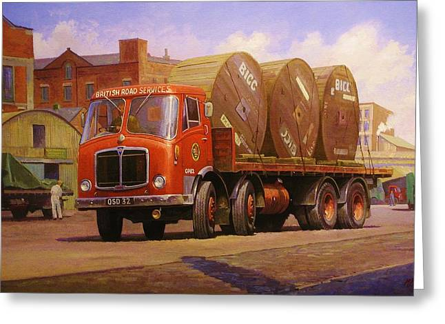 Lorries Greeting Cards - AEC Mammoth Major Mk V Greeting Card by Mike  Jeffries