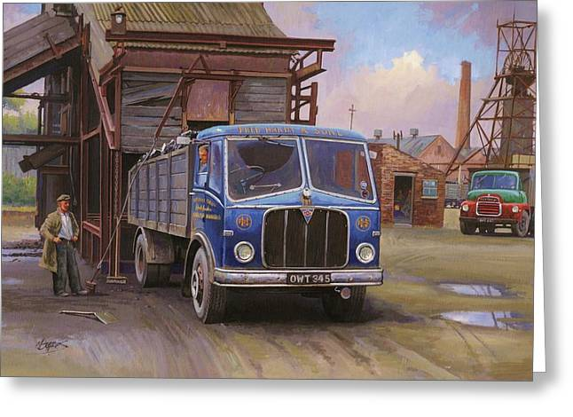 Miners Greeting Cards - AEC Mercury tipper. Greeting Card by Mike  Jeffries
