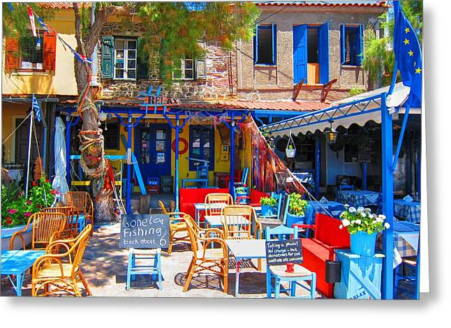 Bold Style Greeting Cards - Aegean Colors Greeting Card by Andreas Thust