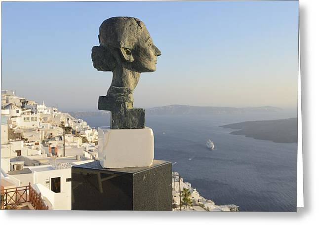 Greek Sculpture Greeting Cards - Aegean View Greeting Card by Christian Heeb