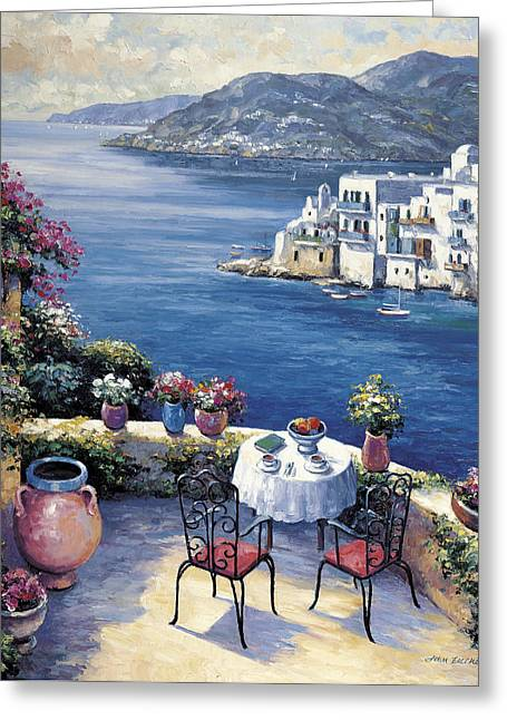 Zaccheo Greeting Cards - Aegean Vista Greeting Card by John Zaccheo