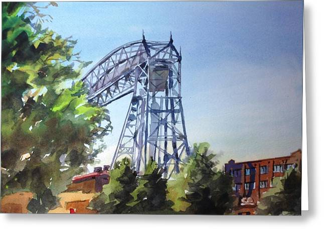 Spencer Meagher Greeting Cards - Aerial Lift Bridge Greeting Card by Spencer Meagher