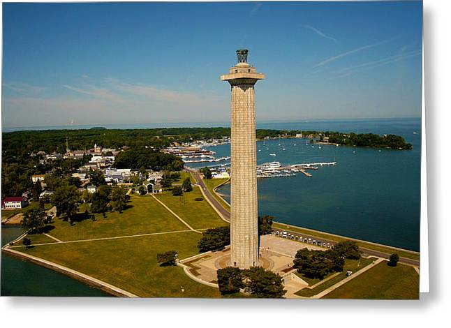 Sell Art Online Greeting Cards - Aerial Perrys Monument  Greeting Card by Kevin Cable
