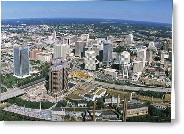 Va Greeting Cards - Aerial Richmond Va Greeting Card by Panoramic Images