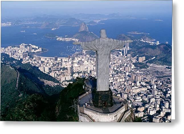 The Hills Greeting Cards - Aerial, Rio De Janeiro, Brazil Greeting Card by Panoramic Images