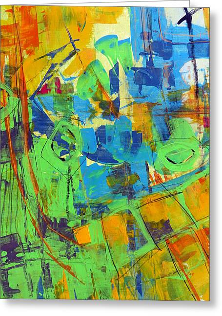 Subjective Greeting Cards - Aerial View Greeting Card by Katie Black