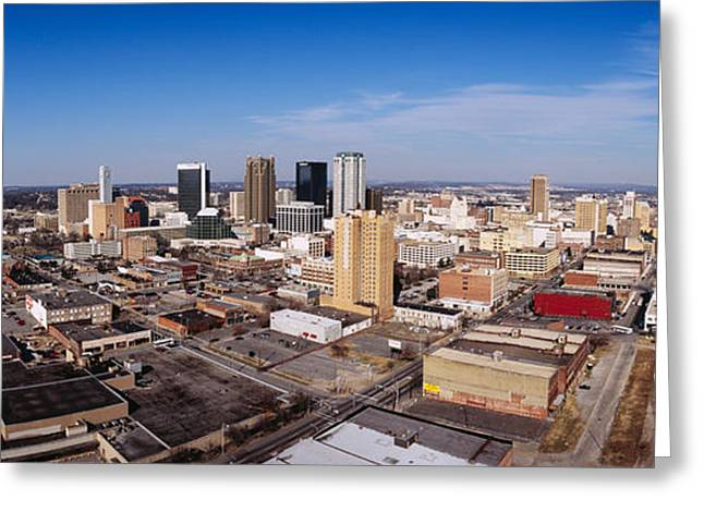 Office Space Photographs Greeting Cards - Aerial View Of A City, Birmingham Greeting Card by Panoramic Images