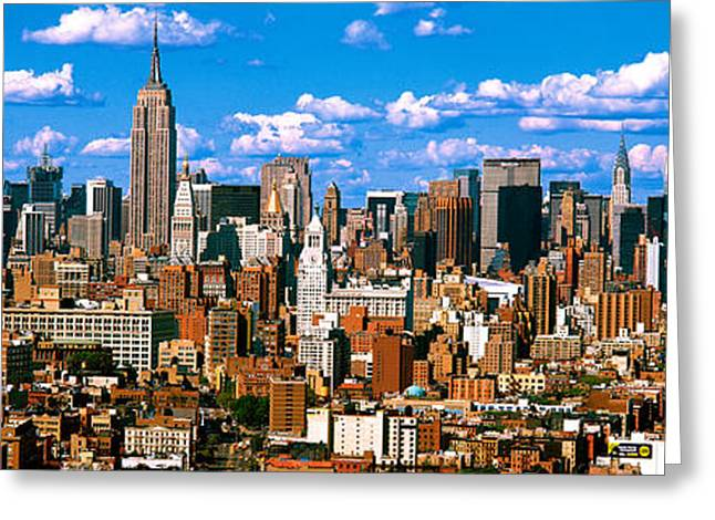 Midtown Greeting Cards - Aerial View Of A City, Midtown Greeting Card by Panoramic Images