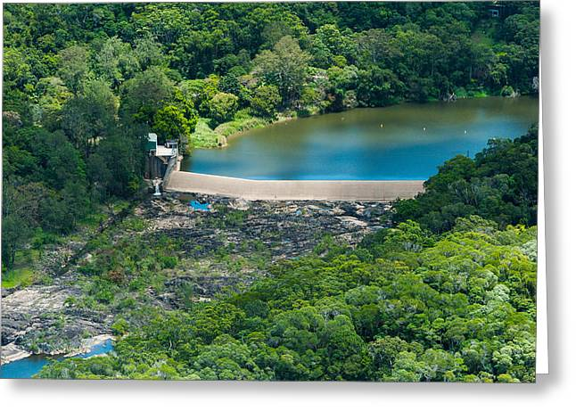 Hydroelectric Greeting Cards - Aerial View Of A Dam On Barron River Greeting Card by Panoramic Images
