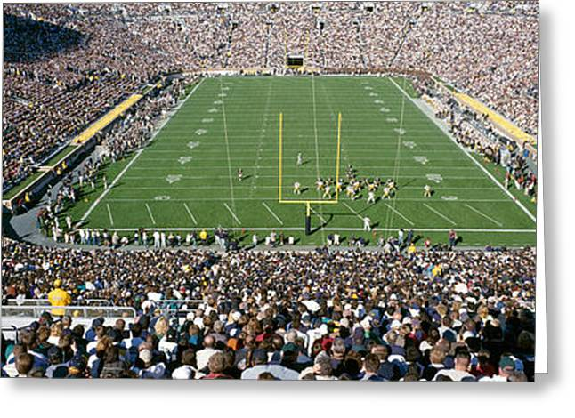Professional Sports Greeting Cards - Aerial View Of A Football Stadium Greeting Card by Panoramic Images