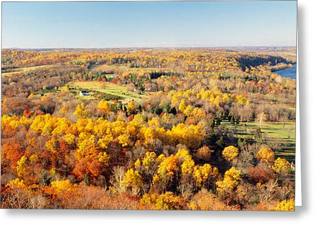 Fall Colors Greeting Cards - Aerial View Of A Landscape, Delaware Greeting Card by Panoramic Images