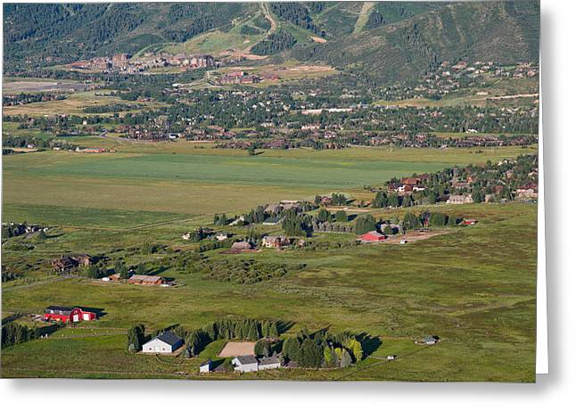 City Photography Greeting Cards - Aerial View Of A Town, Park City, Utah Greeting Card by Panoramic Images