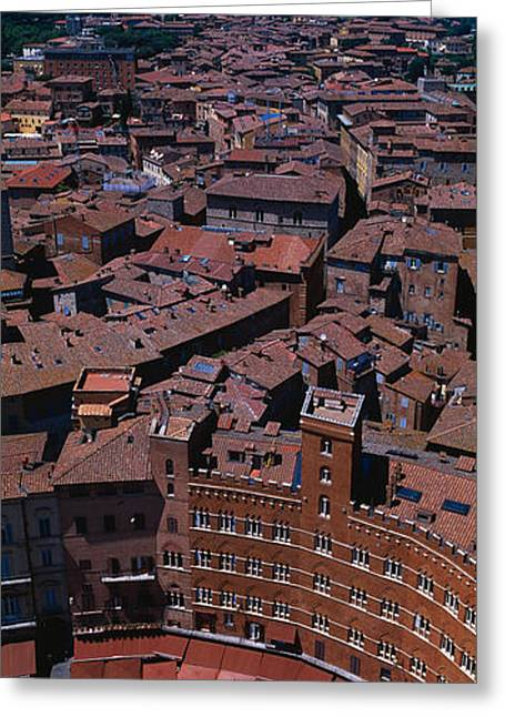Campo Greeting Cards - Aerial View Of A Town Square In A City Greeting Card by Panoramic Images