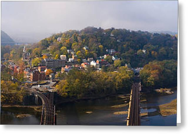Harpers Ferry Greeting Cards - Aerial View Of An Island, Harpers Greeting Card by Panoramic Images