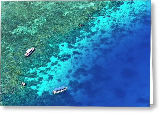 Aerial View Of Beach, Palau Greeting Card by Keren Su