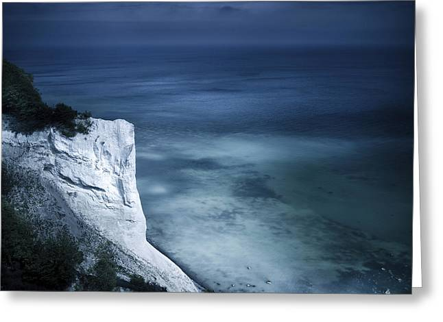 Cliffs Over Ocean Greeting Cards - Aerial View Of Chalk Mountain And Sea Greeting Card by Evgeny Kuklev