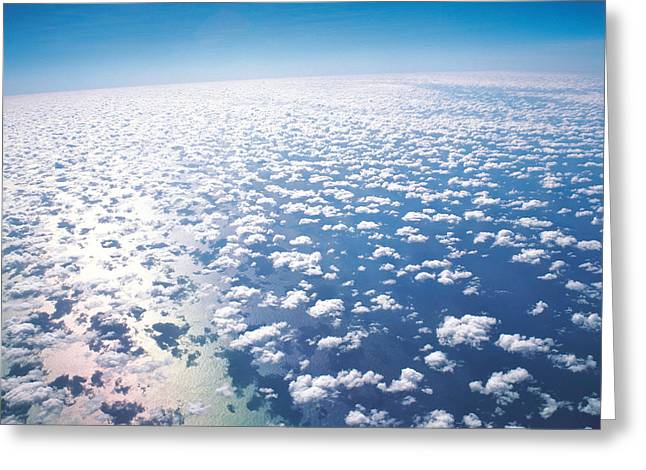 Cumulus Clouds Greeting Cards - Aerial View Of Clouds And Sky Greeting Card by Panoramic Images