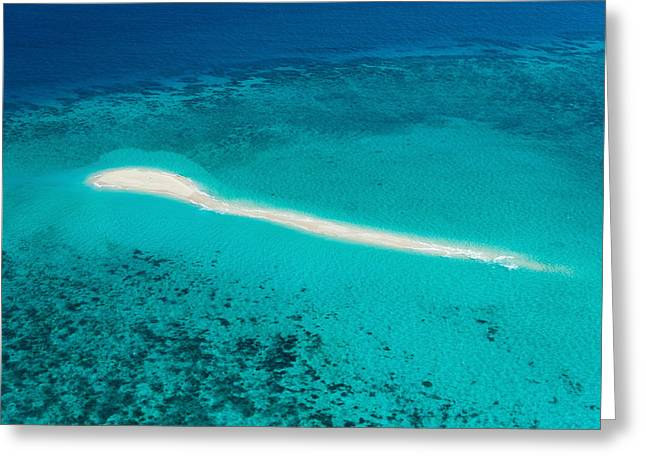 Great Barrier Reef Greeting Cards - Aerial View Of Coral Reef, Great Greeting Card by Panoramic Images