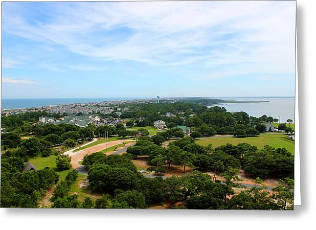 Aerial View Greeting Cards - Aerial View of Corolla North Carolina Outer Banks OBX Greeting Card by Design Turnpike